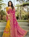 image of Function Wear Silk Fabric Classy Rani Color Weaving Work Saree
