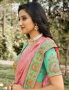 photo of Function Wear Pink Color Classy Weaving Work Saree In Silk Fabric