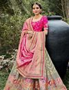 image of Function Wear Grey Color Weaving Work Silk Fabric Lehenga Choli