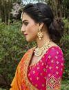 photo of Rani Color Function Wear Weaving Work Silk Fabric Lehenga