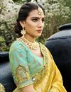 photo of Sea Green Color Function Wear Silk Fabric Weaving Work Lehenga Choli