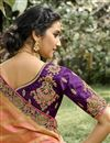 photo of Silk Fabric Function Wear Weaving Work Purple Color Lehenga