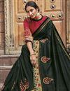 photo of Black Color Fancy Fabric Festive Wear Saree