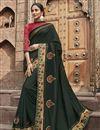image of Black Color Fancy Fabric Festive Wear Saree