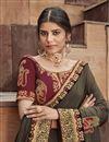 photo of Fancy Fabric Festive Wear Saree In Dark Beige Color