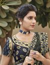 photo of Grey Color Designer Embroidery Work Saree In Fancy Fabric
