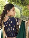 photo of Dark Green Color Fancy Fabric Function Wear Embroidery Work Saree