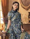 photo of Art Silk Fabric Party Style Blue Color Trendy Saree