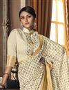 photo of Beige Color Party Wear Art Silk Fabric Trendy Saree
