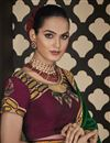 photo of Green Color Designer Border Work Saree In Art Silk Fabric