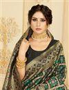 photo of Festive Wear Black Color Chic Art Silk Fabric Weaving Work Saree