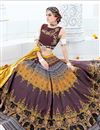 photo of Party Wear Punctilious Multi Color Silk Designer Unstitched Lehenga Choli