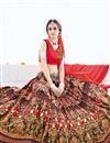 photo of Invigorating Silk Fabric Multi Color Unstitched Designer Lehenga Choli