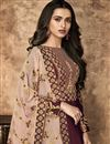 photo of Designer Function Wear Georgette Maroon Anarkali Dress With Heavy Dupatta