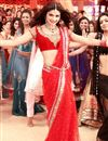 image of Prachi Desai Police giri Red Net Replica Sari-1318