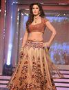 image of Katrina Kaif Beige Net Replica Lehenga Choli-1321