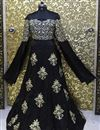 picture of Prachi Desai Black Color Replica Lehenga Choli in Silk Fabric