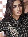 photo of Black Printed Cotton Readymade Party Wear Kurti