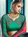 photo of Wedding Wear Designer Embroidered Saree In Navy Blue Art Silk
