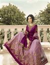 photo of Designer Purple Function Wear Embroidered Sharara Top Lehenga In Satin Georgette Fabric