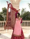 photo of Designer Satin Georgette Fabric Function Wear Embroidered Sharara Top Lehenga In Pink