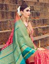 photo of Banarasi Style Art Silk Designer Saree With Weaving Designs In Pink