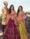picture of Art Silk Fabric Mustard Embellished Lehenga Choli For Functions