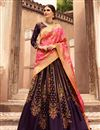 photo of Purple Art Silk Fabric Reception Wear Lehenga Choli With Embroidery Work