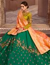 photo of Green Art Silk Fabric Wedding Wear Lehenga Choli With Embroidery Work
