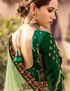 photo of Embroidered Sea Green Art Silk Fabric Festive Wear Lehenga With Embroidery Work