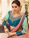 photo of Eid Special Sea Green Art Silk Fabric Reception Wear Lehenga Choli With Embroidery Work