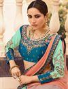 photo of Embroidered Occasion Wear Lehenga In Sea Green Art Silk Fabric