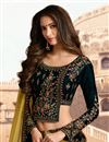 photo of Eid Special Velvet Fabric Dark Green Designer 3 Piece Lehenga Choli With Embroidery Designs