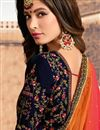 photo of Navy Blue Velvet Fabric Festive Wear Embroidered Chaniya Choli With Beautiful Blouse
