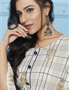 photo of Rayon Fabric Beige Party Style Printed Long Kurti