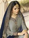 photo of Drashti Dhami Designer Grey Function Wear Georgette Fancy Sharara Suit