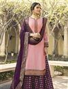 image of Drashti Dhami Pink Embellished Function Wear Designer Sharara Dress In Georgette