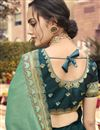 photo of Dark Green Color Puja Wear Viscose Fabric Border Work Saree