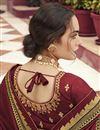photo of Function Wear Maroon Color Art Silk Fabric Border Work Saree