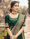 photo of Festive Wear Art Silk Fabric Border Work Saree In Green Color