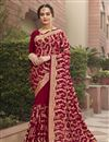 image of Art Silk Fabric Party Wear Fancy Saree With Embroidery Work
