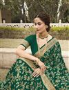 photo of Art Silk Fabric Green Color Party Wear Fancy Saree