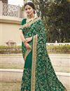 image of Art Silk Fabric Green Color Party Wear Fancy Saree