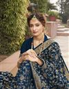 photo of Navy Blue Color Party Wear Stylish Saree In Art Silk Fabric
