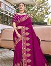 image of Magenta Color Art Silk Fabric Festive Wear Embroidery Work Saree