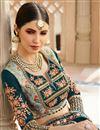 photo of Navy Blue Wedding Function Wear Art Silk Fabric Saree With Work