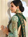 photo of Art Silk Fabric Wedding Wear Dark Green Embellished Designer Saree