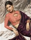 photo of Beguiling Embroidered Art Silk Party Style Designer Saree In Wine Color