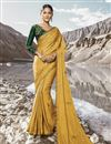 image of Eid Special Embroidery Work On Beguiling Mustard Art Silk Party Style Designer Saree