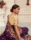 photo of Purple Color Function Wear Art Silk Fabric Alluring Embroidered Saree